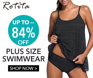 Plus size swimwear, up to 84% off