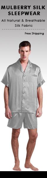 100% Pure Mulburry Silk Pajama for Men