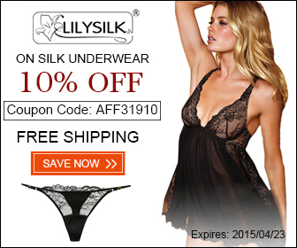 Paste this discount code: AFF31910 at checkout to get 10% off On Silk Underwear at Lilysilk.com.Expires 2015/04/23. FREE Shipping!