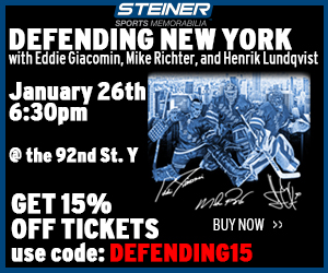 Save 15% on the Steiner Sports Defending New York Event, code DEFENDING15