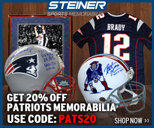 20% Off Patriots Memorabilia at Steinersports.com, code PATS20