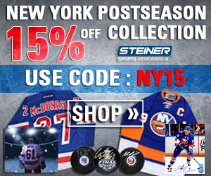 15% Off NY Postseason Collection at SteinerSports.com, code NY15