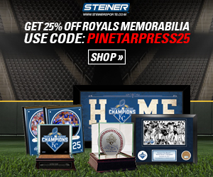 25% Off Royals Memorabilia at SteinerSports.com with code PINETARPRESS25