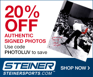 20% Off Signed Photos at SteinerSports.com with code PHOTOLUV (1/1/17-3/31/17)