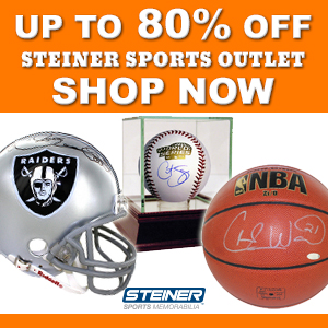 Save Up to 80% On Memorabilia at the SteinerSports.com Outlet