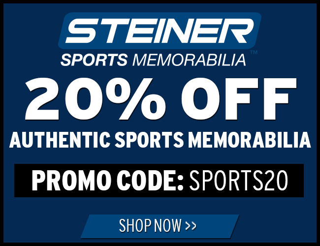 20% Off Memorabilia at Steiner Sports, code SPORTS20