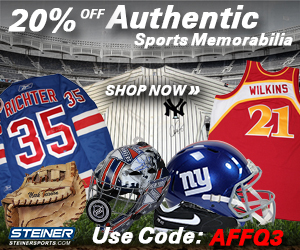 20% Off at SteinerSports.com with code AFFQ3