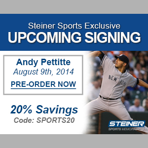 20% Off Andy Pettitte Memorabilia at Steiner Sports, code SPORTS20