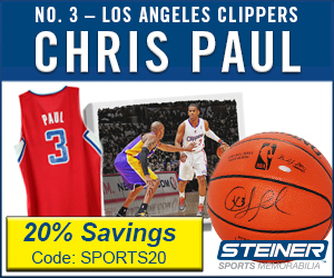 20% Off Chris Paul Memorabilia at Steiner Sports, code SPORTS20