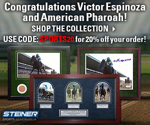20% Off the SteinerSports.com Triple Crown Collection with code SPORTS20!
