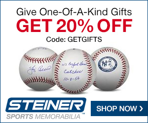 20% Off at Steiner Sports with code GETGIFTS