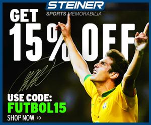 Take 15% Off Soccer Memorabilia at SteinerSports.com, code FUTBOL15
