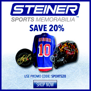 20% Off Authentic Hockey Memorabilia Memorabilia at Steiner Sports, code SPORTS20