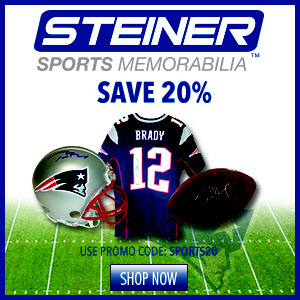 20% Off New England Patriots Memorabilia at Steiner Sports, code SPORTS20