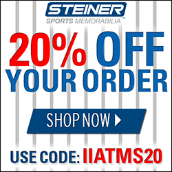 20% Off at SteinerSports.com, code IIATMS20