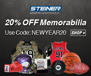 20% Off Sitewide at SteinerSports.com with code NEWYEAR20
