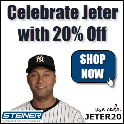 20% Off at Steiner Sports with code JETER20