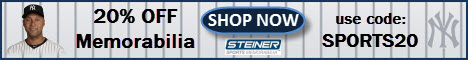 20% Off at Steiner Sports with code SPORTS20