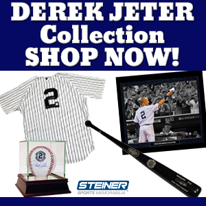 Find Derek Jeter Memorabilia at SteinerSports.com