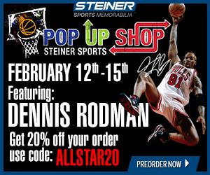 20% Off Dennis Rodman Pre-Orders at SteinerSports.com, code ALLSTAR20
