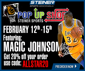 20% Off Magic Johnson Pre-Orders at SteinerSports.com, code ALLSTAR20