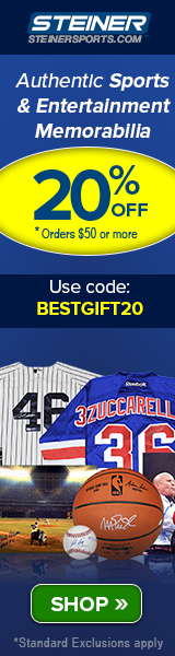 20% Off at SteinerSports.com: code BESTGIFT20