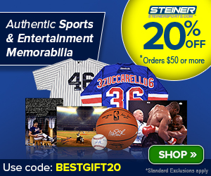 20% Off at SteinerSports.com: code SUMMER20