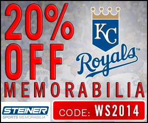 20% Off Royals Memorabilia at SteinerSports.com, code WS2014