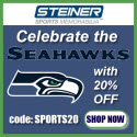 20% Off Seattle Seahawks Memorabilia at Steiner Sports, code SPORTS20