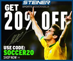 20% Off Soccer Memorabilia at SteinerSports.com, code SOCCER20 or FUTBOL20