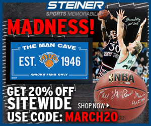 20% Off Knicks Memorabilia at SteinerSports.com, code MARCH20