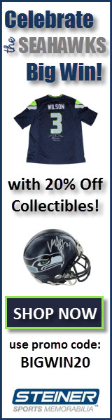 20% Off Seattle Seahawks Memorabilia at Steiner Sports, code BIGWIN20