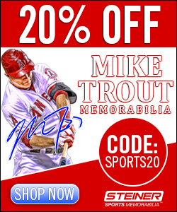 20% Off Mike Trout Memorabilia at Steiner Sports, code SPORTS20
