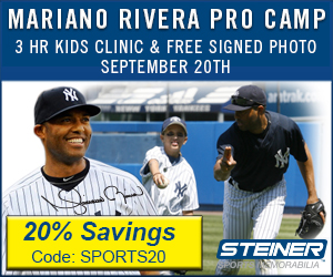 20% Off Steiner's Mariano Rivera Pro Camp for Kids