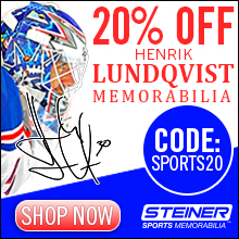 20% Off Henrik Lundqvist Memorabilia at SteinerSports.com, code SPORTS20