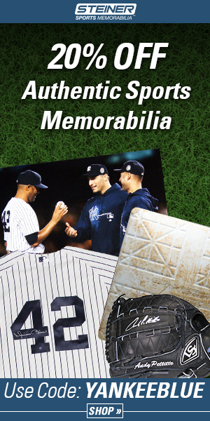 20% Off at Steiner Sports with code YANKEEBLUE