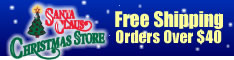Santa Claus Christmas Store Free Shipping Orders over $40