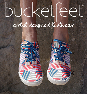 BucketFeet Patchwork Canvas Lace-up