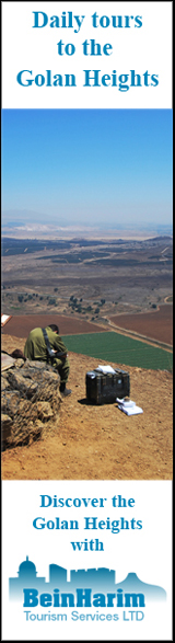 Daily tours to the Golan Heights