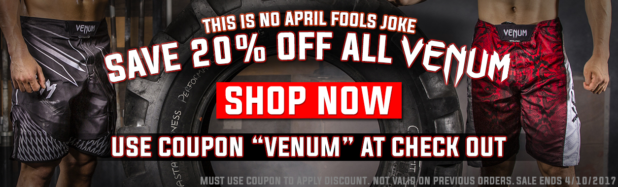20% Off Venum Fight Gear