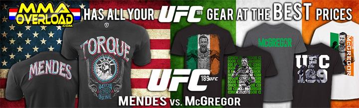 UFC 189 Shirts Conor McGregor & Chad Mendes