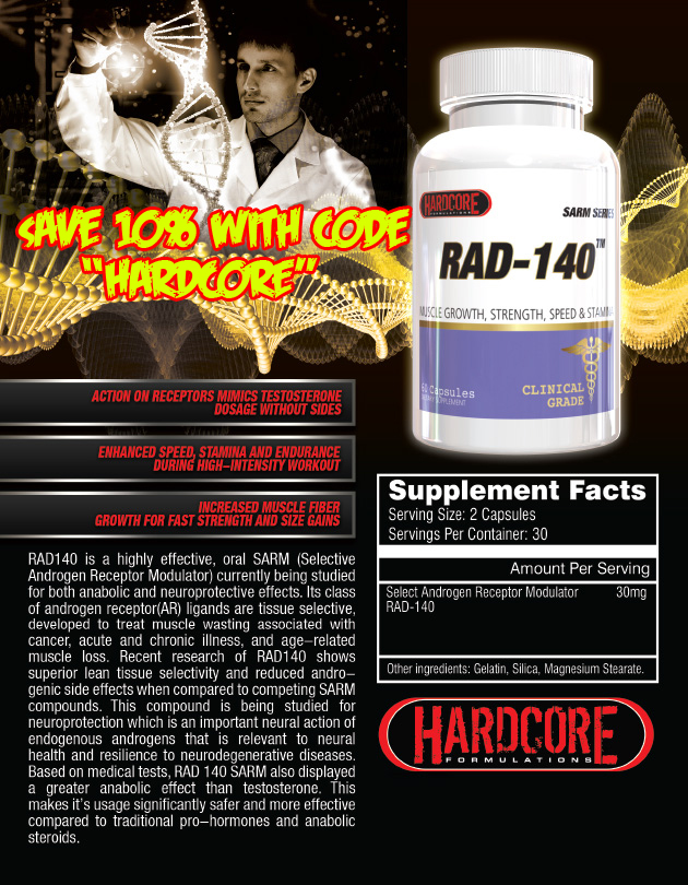 10% off All Sarms from Hardcore Formulations - 2018 Promo