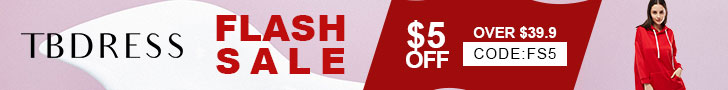 Tbdress Flash Sale Extra $5 off over $39
