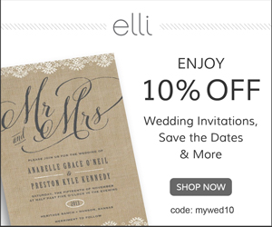 Save 10% Wedding Invitations and Save the Dates at Elli.com