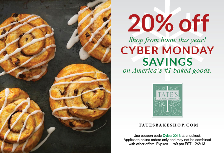 Tate's Bake Shop - Cyber Monday
