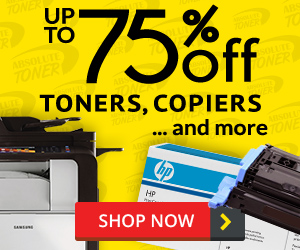 Up to 75% off Toner, Copiers ...and more