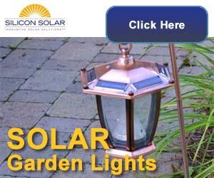 Solar Garden Lights From Silicon Solar
