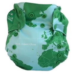 TushMate Globe print diaper