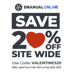 eManualonline.com Save 20% OFF on Valentines Day, Use Code: VALENTINES20