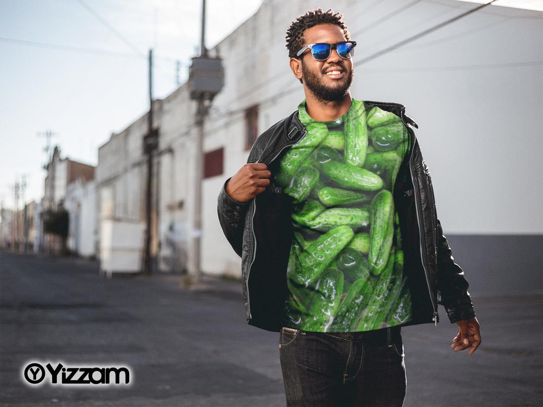 yizzam Kosher Dill Pickles Mens T-Shirt